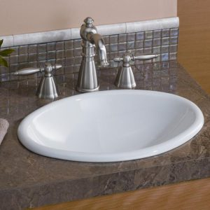 "Cheviot Mini Oval Bathroom Sink 17 1/8"" x 12 1/4"""