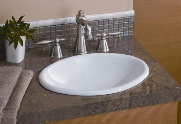 "Cheviot Mini Oval Bathroom Sink 17 1/8"" x 12 1/4"""