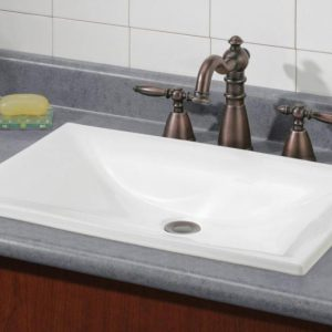 Cheviot Estoril Bathroom Drop In Sink 22x15 White