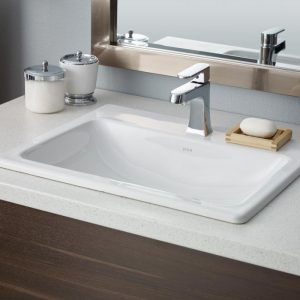 "Cheviot Manhattan Drop In Bathroom Sink 21 5/8"" x 17 3/4"""