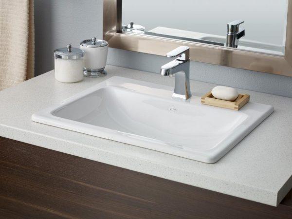 "Cheviot Manhattan Drop In Bathroom Sink 21 5/8"" x 17 3/4"""