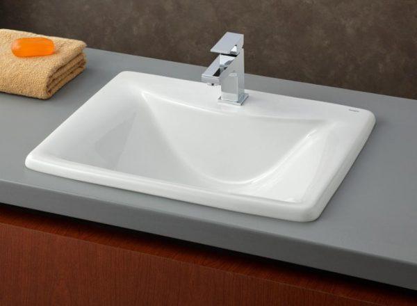 cheviot bali drop in rectangular bathroom sink