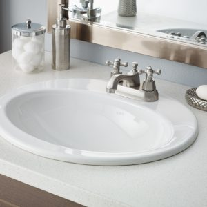 cheviot aria oval drop in bathroom sink