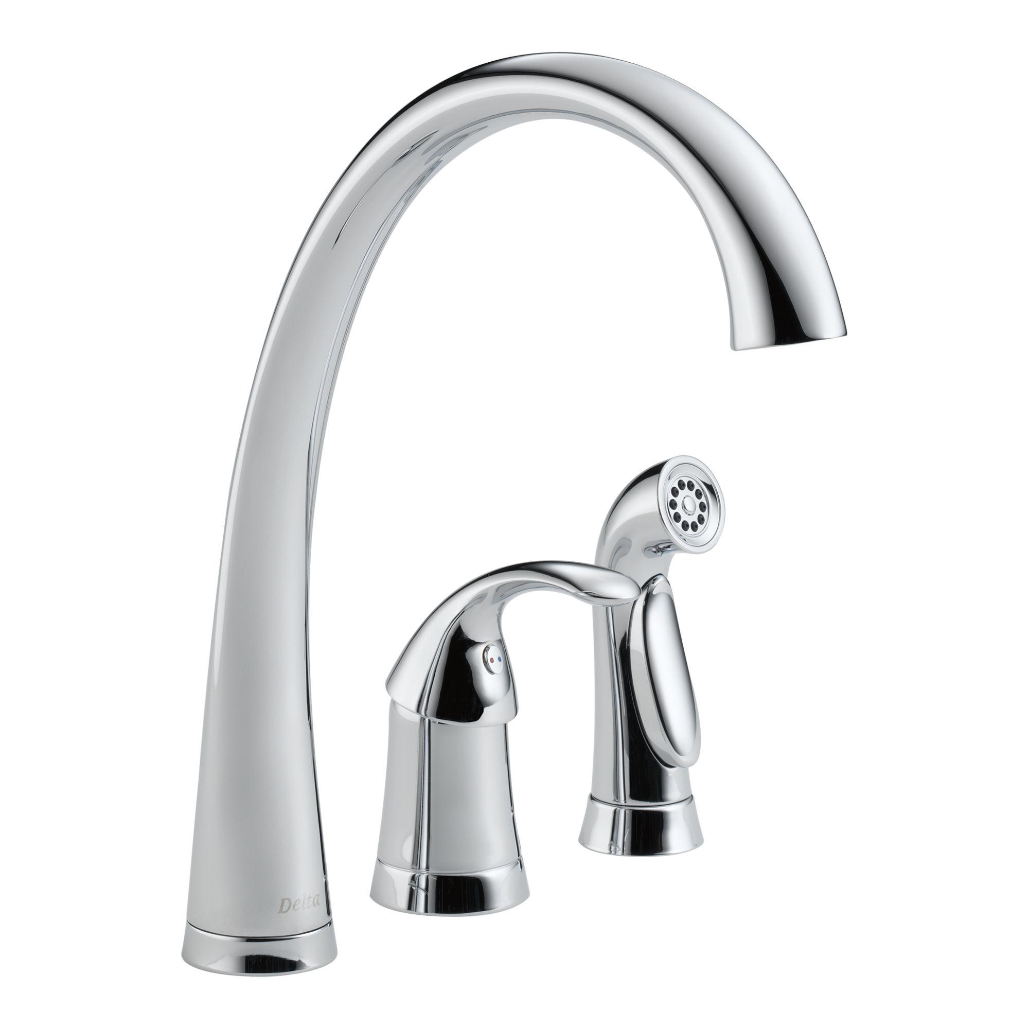 delta pilar waterfall kitchen faucet dynasty bathrooms rh dynastybath com Contemporary Kitchen Faucets Kitchen Waterfall Countertop