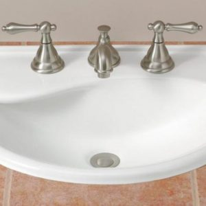 cheviot drop in white bathroom sink with widespread faucet