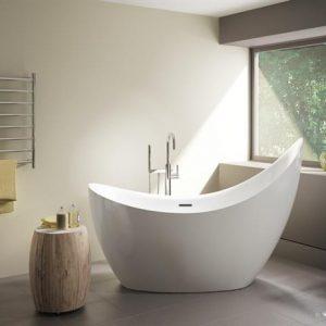"Fleurco Cresent Petite Freestanding bathtub 65"" x 31"""