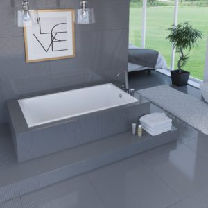 "Mirolin Fina Drop in Tub 60"" x 32"" x22"" BO68S"