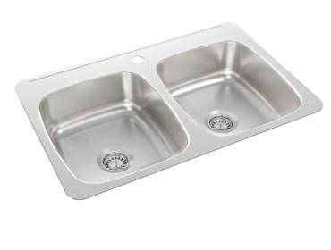 Wessan double bowl kitchen sink