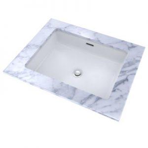 "TOTO Undermount bathroom rectangular sink LT221_01 17"" x 13"""