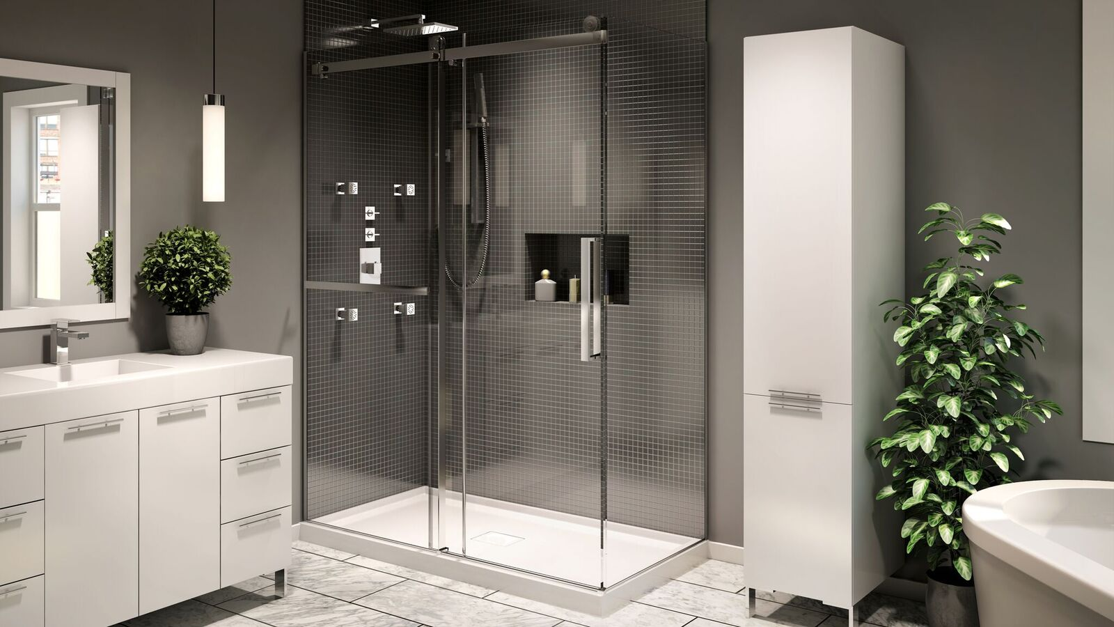 Neptune Exalt Shower Door Dynasty Bathrooms