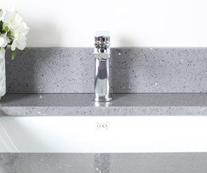 Lukx Rectangular undermount bathroom sink bss-020 square-white
