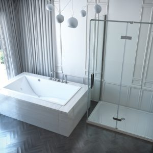 Mirolin Chaise drop-in tub 66x32