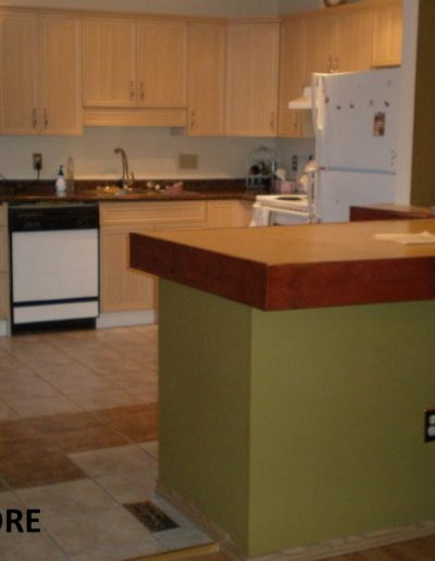 Orange Backsplash Kitchen Before