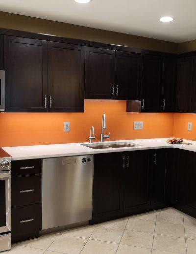 Orange Backsplash Kitchen