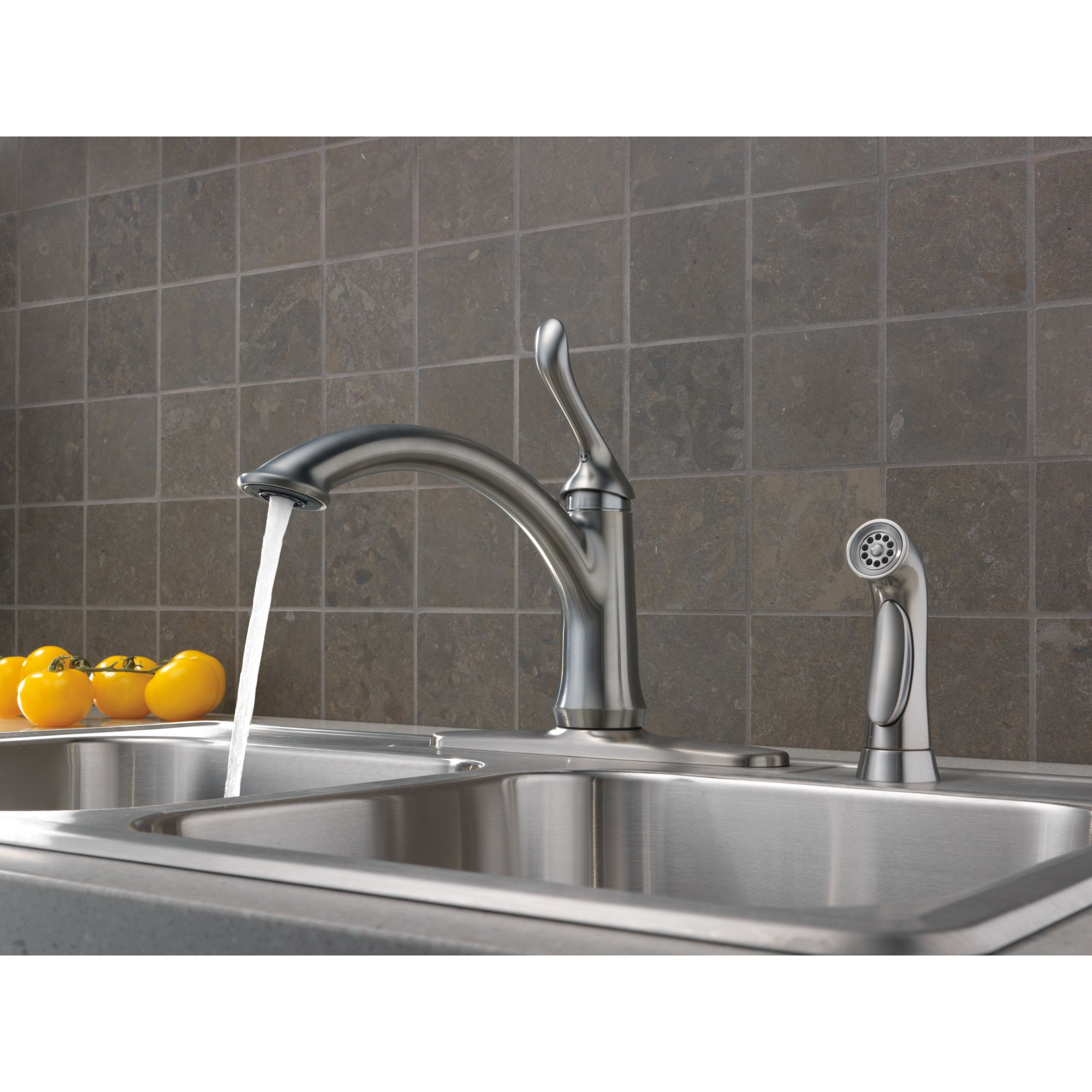 delta linden kitchen faucet - dynasty bathrooms