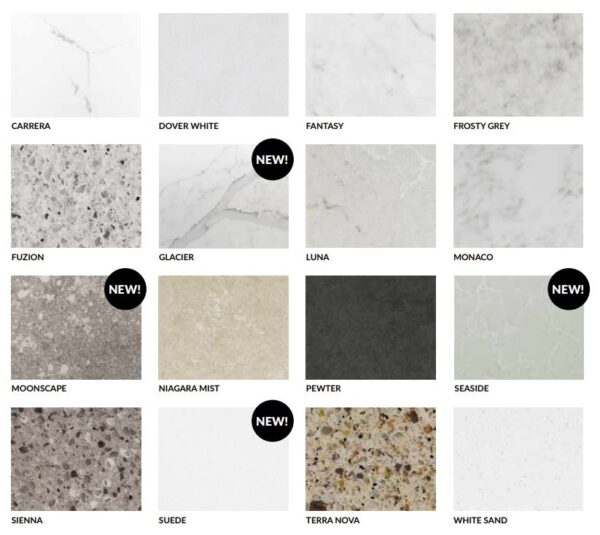 Stonewood rocksolid quartz options