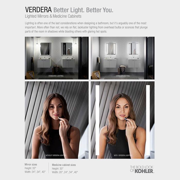 Kohler Verdera Voice Lighted Mirror Dynasty Bathrooms