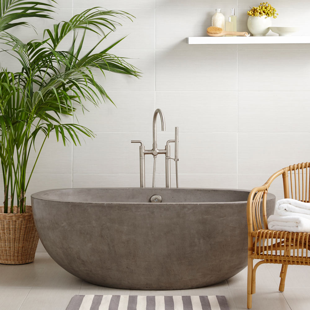 Native Trails Avalon Concrete Soaker Tub Dynasty Bathrooms