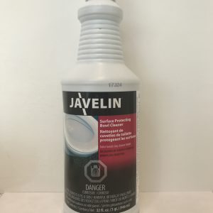 Javelin surface protecting bowl cleaner
