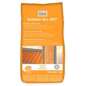 Schluter All Set Mortar Bathroom