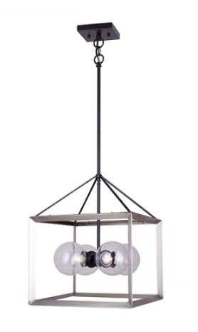 Canarm Leo Chandelier BN and MB small
