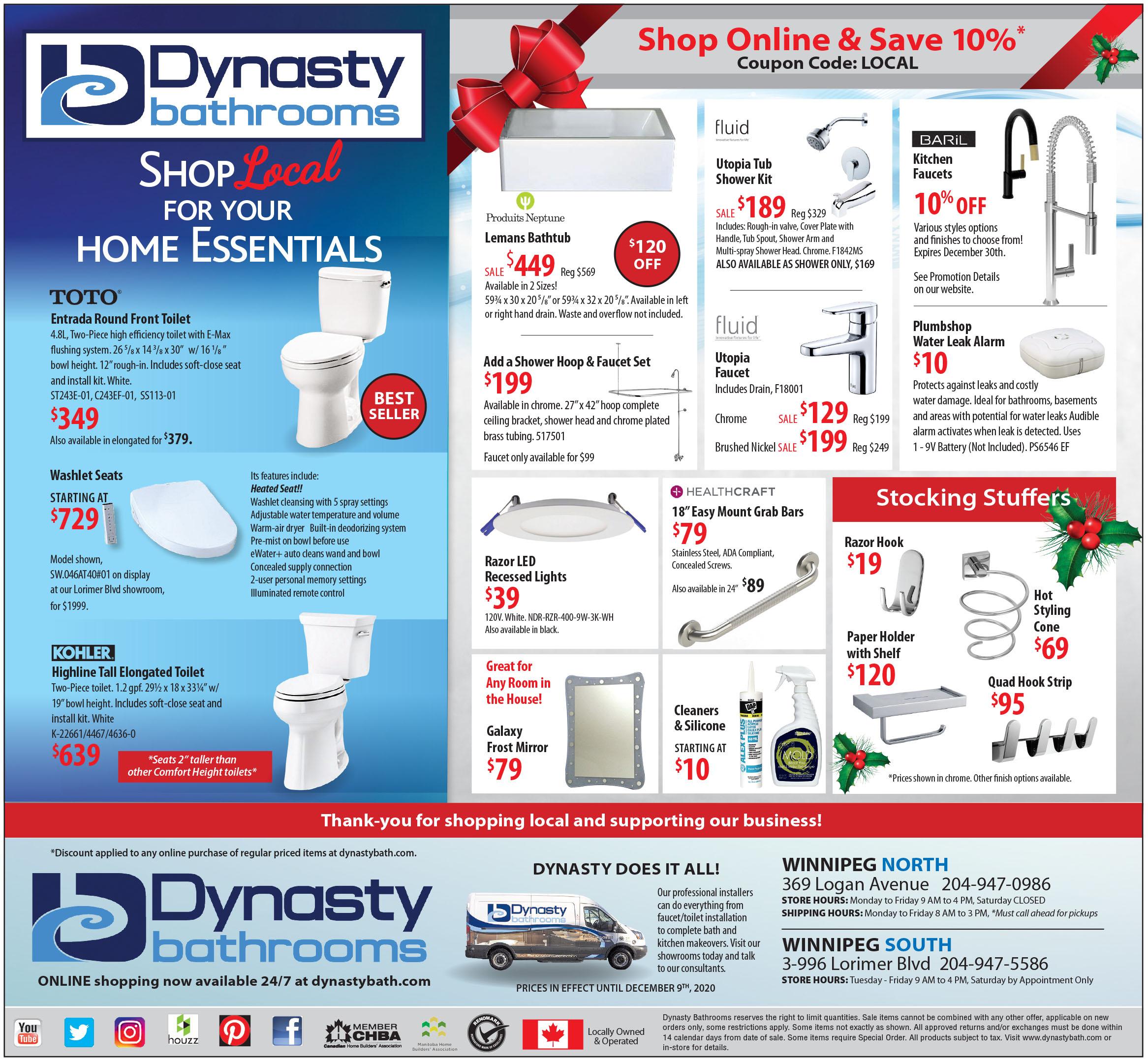 shop online ad flyer